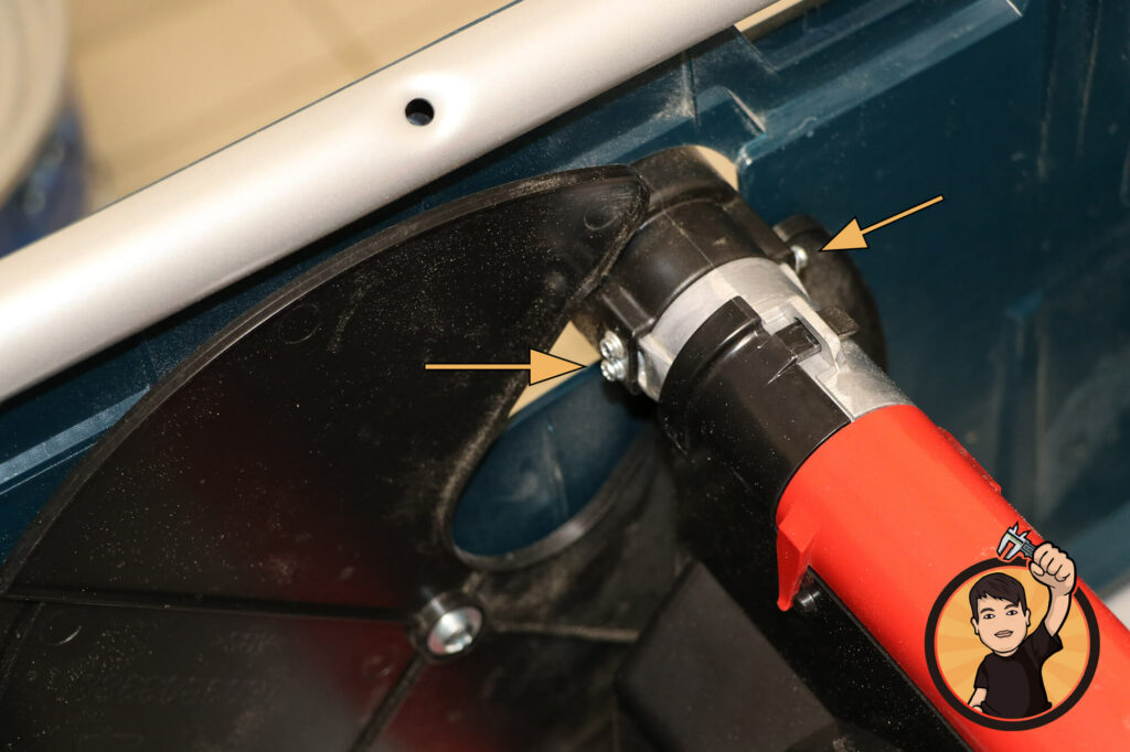 BOSCH GTS 635-216 Absaugstutzen entfernen